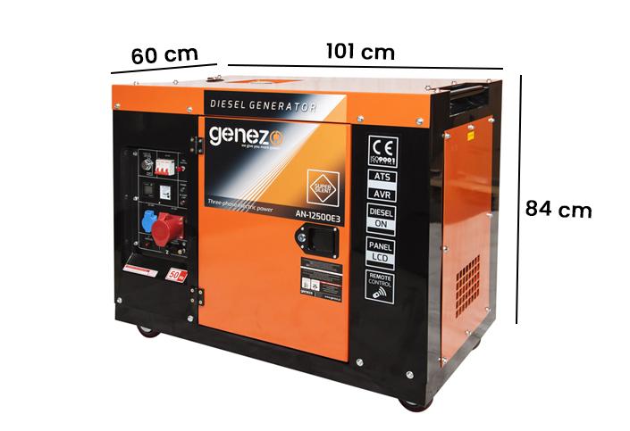 Wymiary agregatu prądotwórczego 10kW