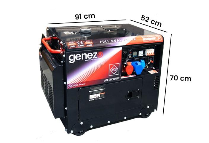 wymiary generatora prądu 9500FDP